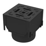 Aco Hex Drain Black Plastic Corner Unit