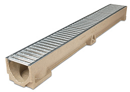 Aco Rain Drain Polymer Concrete Galv Grate