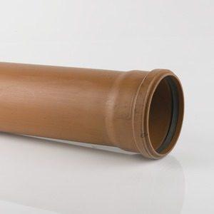 Brett Martin 160mm 6M Plain Single Socket Pipe