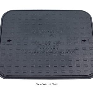 Manhole Cover and frame D/Iron 600mm x 450mm 1.5 Ton A15
