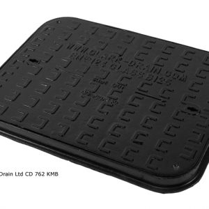 Manhole Cover and frame D/Iron 600mm x 450mm 10 Ton B125