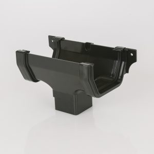 Brett Martin 114mm Squarestyle PVCu Running Outlet Black