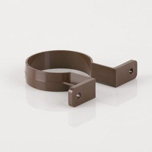 Brett Martin 68mm Round Downpipe Bracket Brown