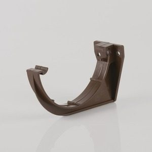 Brett Martin 112mm Roundstyle PVCu Fascia Bracket Brown