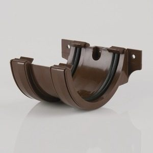 Brett Martin 112mm Roundstyle PVCu Joint/Union Brown