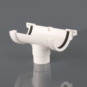 Brett Martin 112mm Roundstyle PVCu Running Outlet White