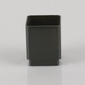 Brett Martin 65mm Square Downpipe Connector Black