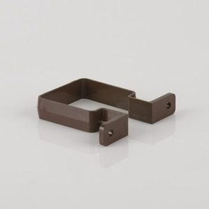 Brett Martin 65mm Square Downpipe Bracket Brown