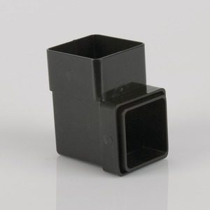 Brett Martin 65mm Square 92° Downpipe Bend Black