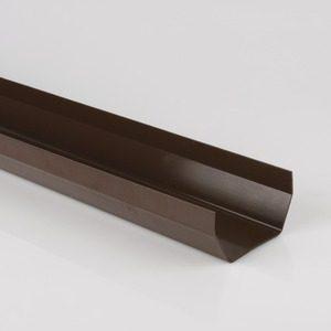 Brett Martin 114mm Squarestyle PVCu Gutter 2m Brown
