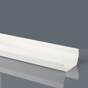 Brett Martin 114mm Squarestyle PVCu Gutter 4m White