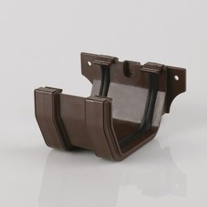Brett Martin 114mm Squarestyle PVCu Joint/Union Brown