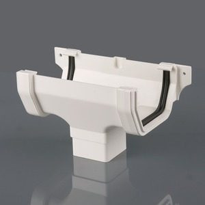 Brett Martin 114mm Squarestyle PVCu Running Outlet White