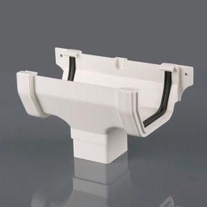 Brett Martin 114mm Squarestyle PVCu Running Outlet White