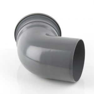 Brett Martin 160mm Push Fit PVCu 112° Single Socket Bend Grey