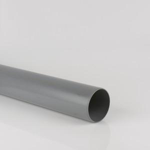 Brett Martin 110mm Push Fit PVCu Plain Ended 3m Pipe Grey