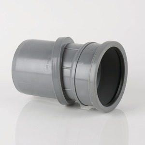 Brett Martin 110mm Push Fit PVCu 0°-30° Adjustable Single Socket Bend Grey