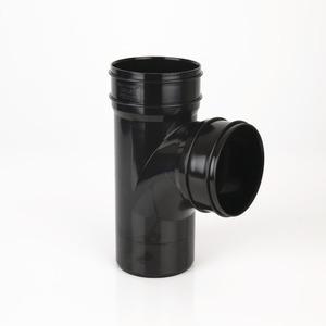 Brett Martin 110mm PVCu 92° Double SW Socket Branch w/o bosses Black