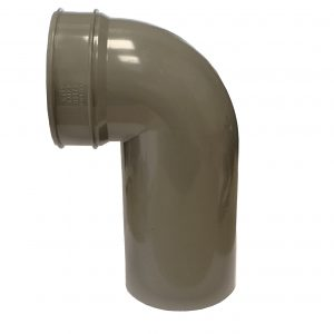 Brett Martin 110mm PVCu 92° Long Spigot Solvent Soil Bend Black Grey Olive