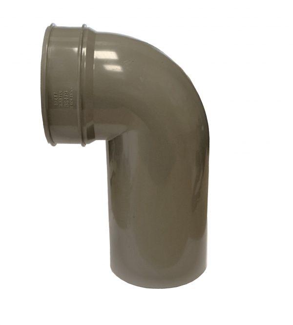 Brett Martin 110mm PVCu 92° Long Spigot Solvent Soil Bend Black Grey Olive