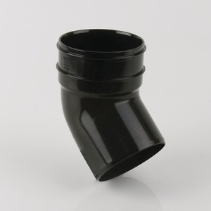 Brett Martin 110mm PVCu 135° Single Solvent Weld Socket Bend Black
