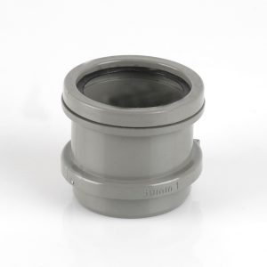 Brett Martin 50mm Ring Seal Connection Waste Adaptor Grey