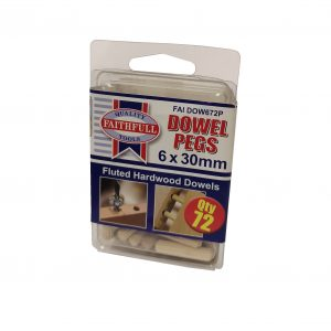 Fluted Dowels 6Mm Standard Pack