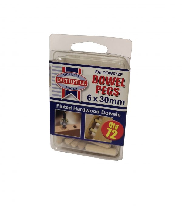 Fluted Dowels 6Mm Standard Pack
