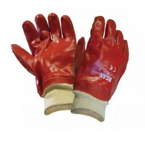 Gloves - Red Pvc