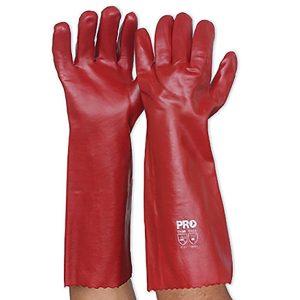 Gloves-Red Pvc 450Mm Long