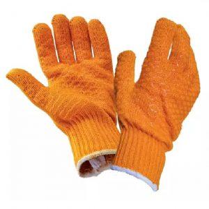 Gloves - Yellow Criss Cross