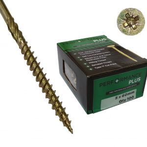Performance Plus Screws 5 X 60mm (Box 100 )