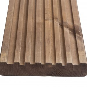 Q-Shades Reversible Canterbury Decking in Autumn Brown 27mm x 144mm