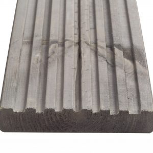 Q-Shades Reversible Canterbury Decking in Pebble Grey 27mm x 144mm