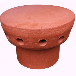 Fluevent Chimney Cap 185mm Spigot Red