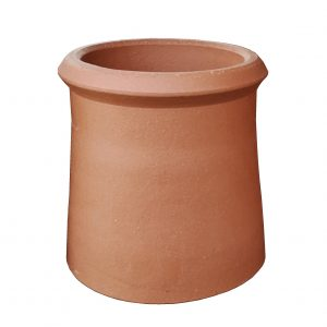 Roll Top Chimney Pot 300mm Red
