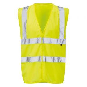 Safety Waistcoat Hi- Vis Xl Yellow