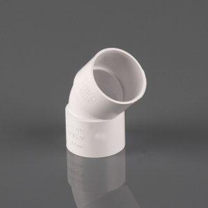 Brett Martin 50mm Solvent Weld 135° Obtuse Bend White
