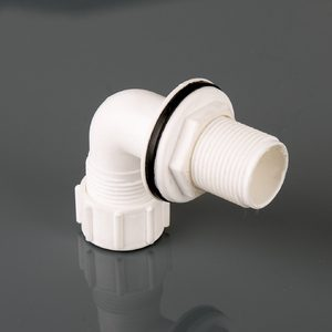 Brett Martin 21.5mm Overflow Bent Compession Socket Tank Connecter White