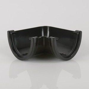 Brett Martin 115mm Deepstyle PVCu 90° Gutter Angle Black