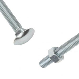 Cup Sq Hex Bolt M10 X 130mm